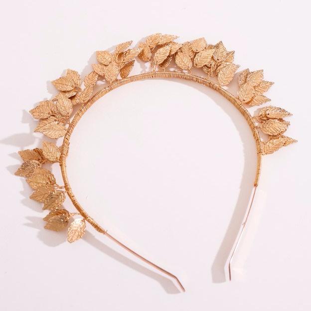 gold leaf headband tiara fascinator